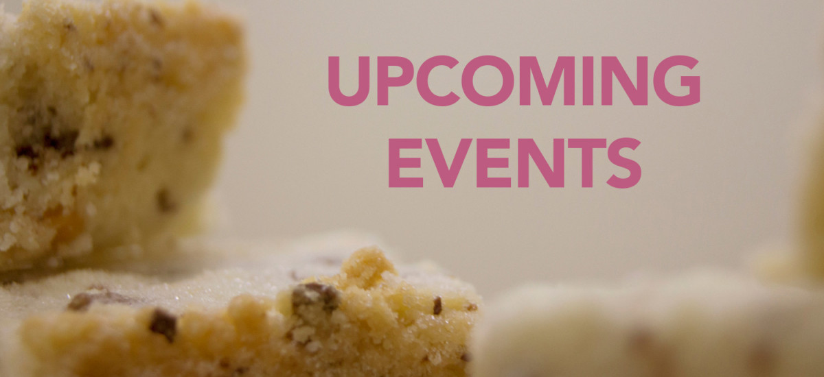Upcoming Events – October through December 2015